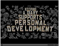 Keeping a diary supports personal development